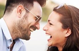 sonrisa de parejas