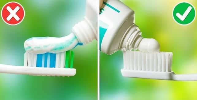cantidad de pasta dental
