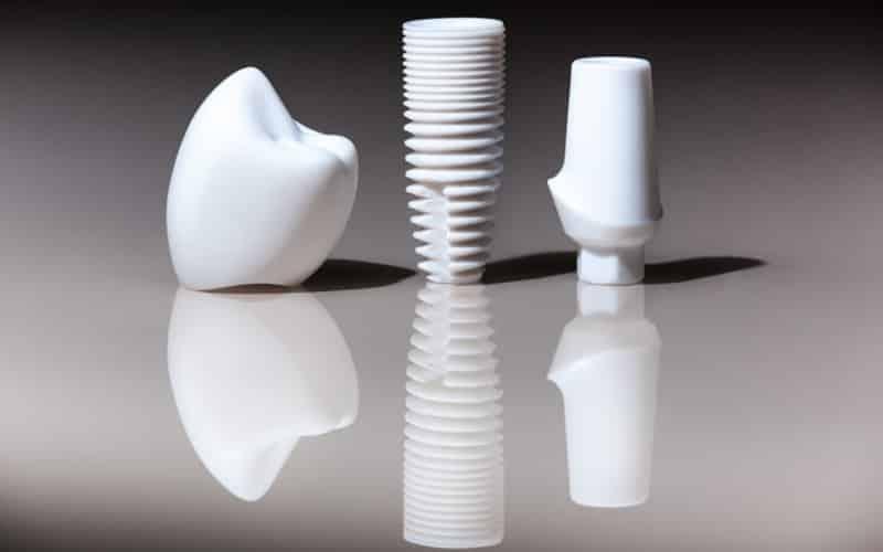 Implantes dentales de zirconia y sus aditamentos