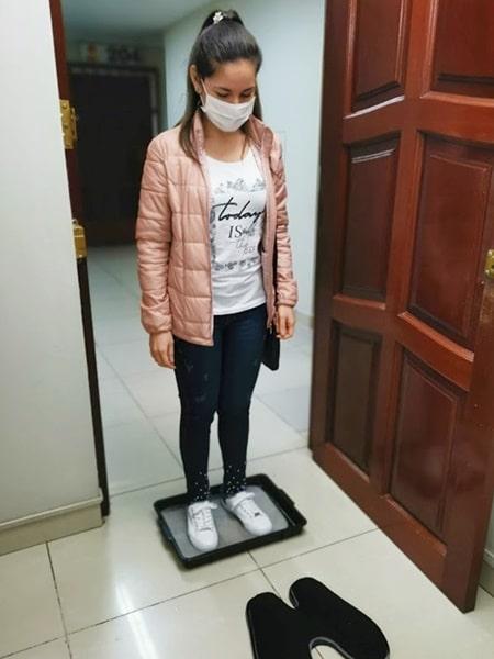 1 Desinfección de zapatos