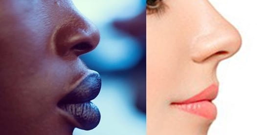 labios gruesos y delgados